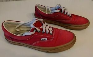 Vans off the wall Shoes. Mens 9.0, Womens 10.5 Red