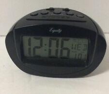 Equity LCD Digital Travel Alarm Clock 2 AAA batteries