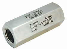 """1/2"""" Stainless Steel High Pressure Check Valve, 15,000 PSI -New"""