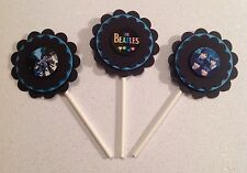 Beatles Cupcake Toppers - Beatles - Beatles Birthday Party - Beatles Party Decor