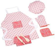 Toy Chef Set Deluxe Kids Toddler Girl Tea Towel Oven Mitt Hot Pad Apron Hat New