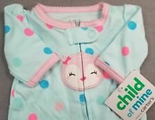 Baby Girl Clothes New Child Mine Carter's Preemie Polka Dot Owl Footed Outfit
