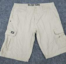 Men's 38 Zoo York Cargo Shorts Beige Bermuda Logo On Side