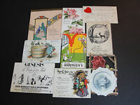VINTAGE 1900s LOT OF (9) PAPER ITEMS~ Ephemera~ Greeting Cards, Post Cards, ETC.