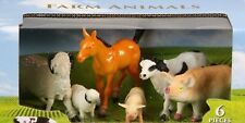 6 Pieces Plastic Farm Animal Figure Toy Playset Kids Fun Horse Cow Sheep Pig