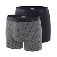 Impetus - Lot 2 boxers en coton Megève bleu et gris