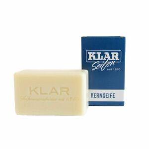 Klar Seifen Kernseife reine Seife palmölfrei ohne Duftstoffe / Farbstoffe 100g