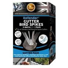 Defender Bird Spikes | Gutter Pack for Seagulls & Pigeons | Install Guide | 3 M