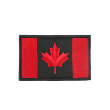 Canada Flag Embroidered Hook Loop Emblem Patch Canadian Maple leaf 8x5cm S A2