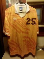 Rare Vintage Made In Usa Umbro Jersey Gold/Burgundy Size X-Large 90's Preowned