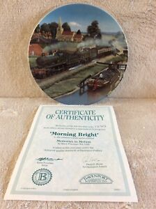 Morning Bright Collector's Plate.  Memories In Motion Limited Edition. 1717D
