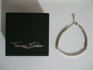 Thomas Sabo Love Bridge Rope Sterling Silver Bracelet - NEW