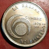Caribe 20 Pesos 1979 plata No Alineados @ Sin circular @