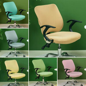 Elastic Office Chair Cover Split Protector Seat Slipcover Stretch Removable AU