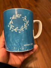 2004 Athens Olympic Mug Aohna Official Licened Product Rare Blue Cup