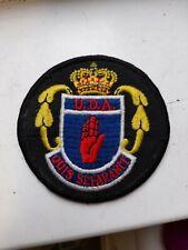 More details for ulster defence association(official) embroidered badge patch. uda badge!