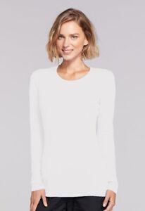 Cherokee Long Sleeve Underscrub Knit Tee Top Shirt 4881 ~SAME DAY~FREE Ship~NEW~