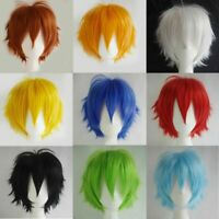 Unisex Boy's Girl's Straight Short Hair Wig Cosplay Wigs Party Anime Full X4D8