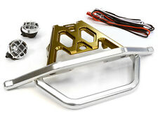 RC Car C26043BRONZE Machined Front Bumper Set w/ LED Lights for Axial 1/10 Yeti