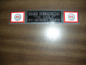 KHABIB NURMAGOMEDOV (UFC) ENGRAVED NAMEPLATE FOR PHOTO/POSTER/GLOVES/TRUNKS