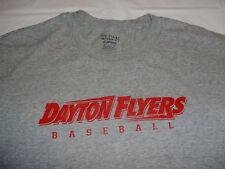 University of Dayton Flyers Baseball Gray Men's Large T-Shirt Gildan Dry-Blend