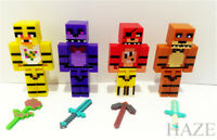 4Pcs/set Five Nights at Freddy's Chica Bonnie Bear/Foxy Minifigures Toy New