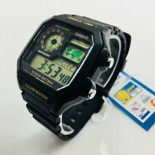 Men's Casio Digital Square Black Case Resin Sport Watch AE1200WH-1BV