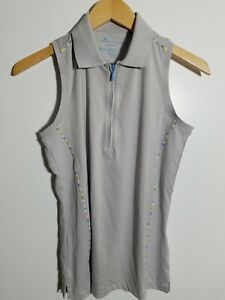 1 NWT WOMEN'S PETER MILLAR S/L POLO, SIZE: SMALL, COLOR: GRAY (J289)