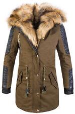 Warm Ladies Winter Jacket Parka Winter Coat Faux fur Hood New CL-817