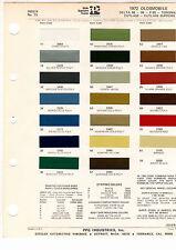 1972 OLDSMOBILE 98 TORONADO F85 CUTLASS 442 DELTA 88 72 PAINT CHIPS DITZLER 7
