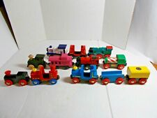 Brio and Assorted Wooden Railway Lot of Twelve Cars