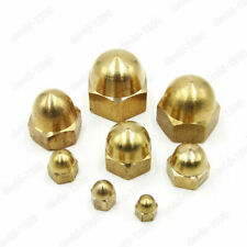 Brass Solid Hex Cap Nuts Hex Acorn Nut M3 M4 M5 M6 M8 M10 M12 M14 M16 Select
