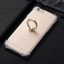Ultra-thin Shockproof Clear Finger Ring Holder Case Cover For iPhone 6 6S Plus