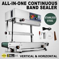 Continuous Band Sealer Vertical/Horizontal Bag Sealing Machine PE Mylar CA Local