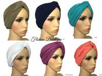 🌸 Criss cross Turban hats underscarf cap hijab stretchy jersey material 🌸