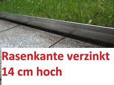 10 x Rasenkante verzinkt Beeteinfassung Beetumrandung Mähkante Metall Palisaden