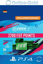 FIFA 19 PlayStation 4 - 2200 FUT Points Key FIFA Ultimate Team PS4 - DE Account