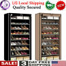 10 TIER DUSTPROOF SHOES CABINET STORAGE ORGANISER SHOE RACK STAND HOLDS 27 PAIRS