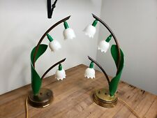 Vintage Lily Of The Valley Astrolamp Boudoir Lamps Hollywood Regency Mid Century