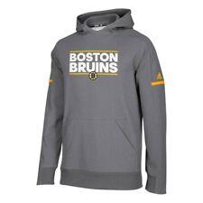 Boston Bruins NHL Men's Dark Grey Authentic Center Ice Squad Pullover Hoodie