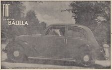 Z7004 Automobile Fiat - La Neu Tischkicker - Werbung Oldtimer - 1938 Werbung