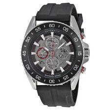 Michael Kors MK9013 Men's Jetmaster Silver Tone Dial & Black Silicone Watch