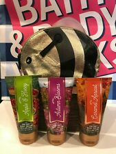 Bath & Body Works Pure Honey Bee Cosmetic Bag Autumn Blooms Caramel MOTHER'S DAY