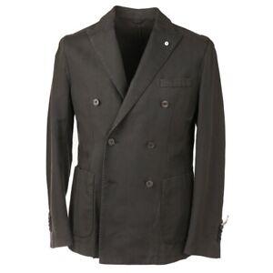 NWT $850 L.B.M. 1911 Slim-Fit Dark Green Linen-Cotton Sport Coat 42 R