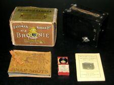 PALMER COX EASTMAN KODAK NO. 2 BROWNIE CAMERA IN BROWNIE BOX +EXTRA BROWNIE LENS