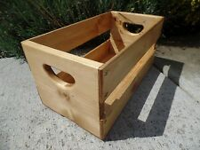 "Hand Built 45rpm 7"" inch Record Vinyl Crate Storage Solid Wood - Golden Oak"