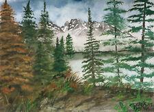 Jackson Hole Jenny lake landscape mountain watercolor painting art print