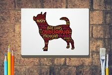 More details for chihuahua word art canvas a4 a3 a2 a1 dog mothers day gift personalised option