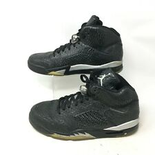Nike Air Jordan 3Lab5 Basketball Shoes Textured Leather Lace Up Black Mens 13