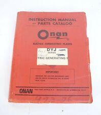 Onan DYJ Series Electric Generating Sets Operator's Manual